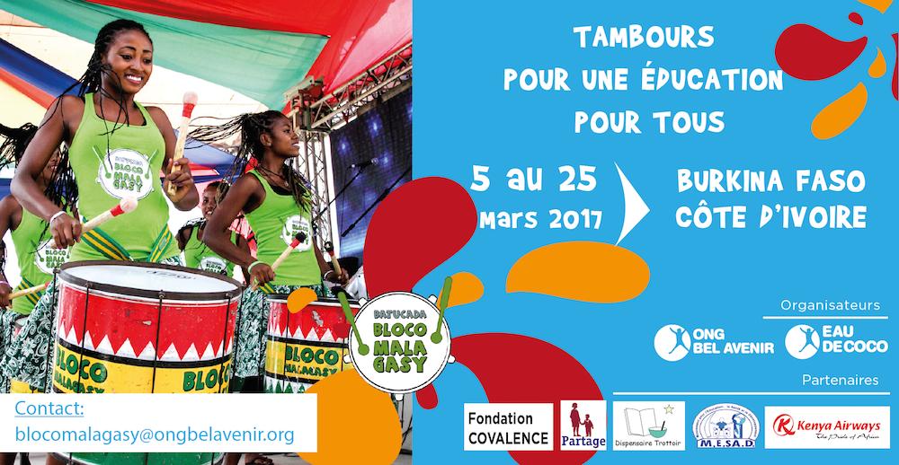 La Bloco Malagasy se prépare pour promouvoir une éducation pour tous en Afrique de l'Ouest