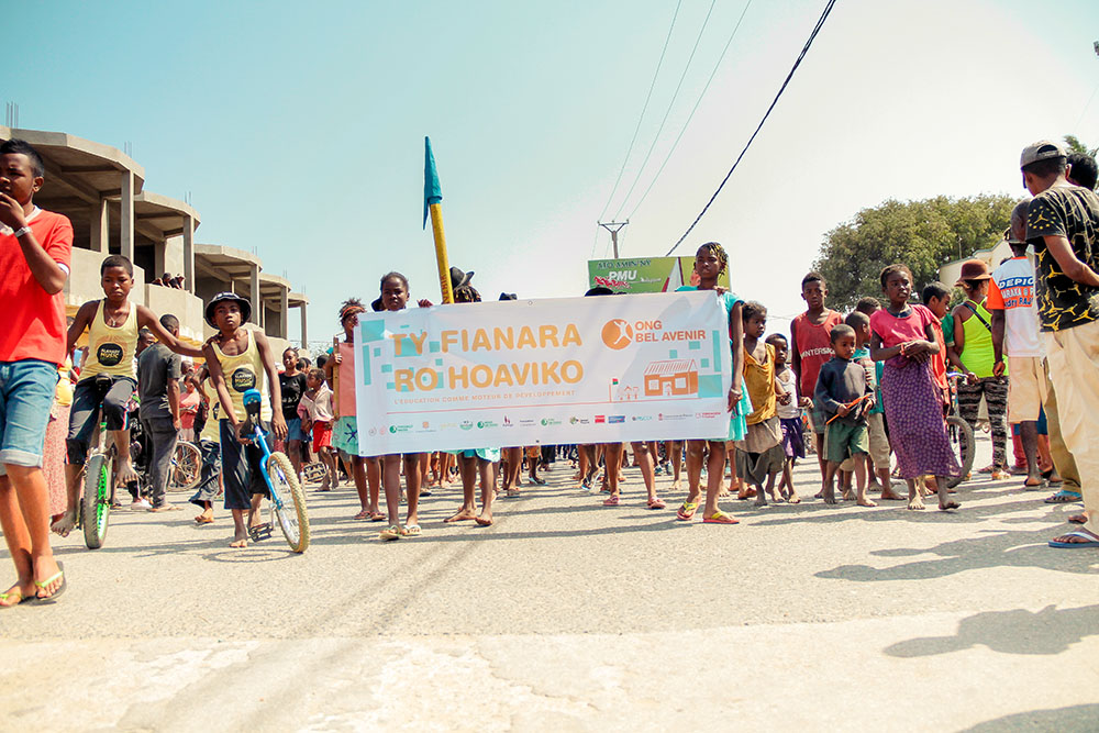 «Ty fianara ro hoaviko» proclament les bénéficiaires de l'ONG Bel Avenir