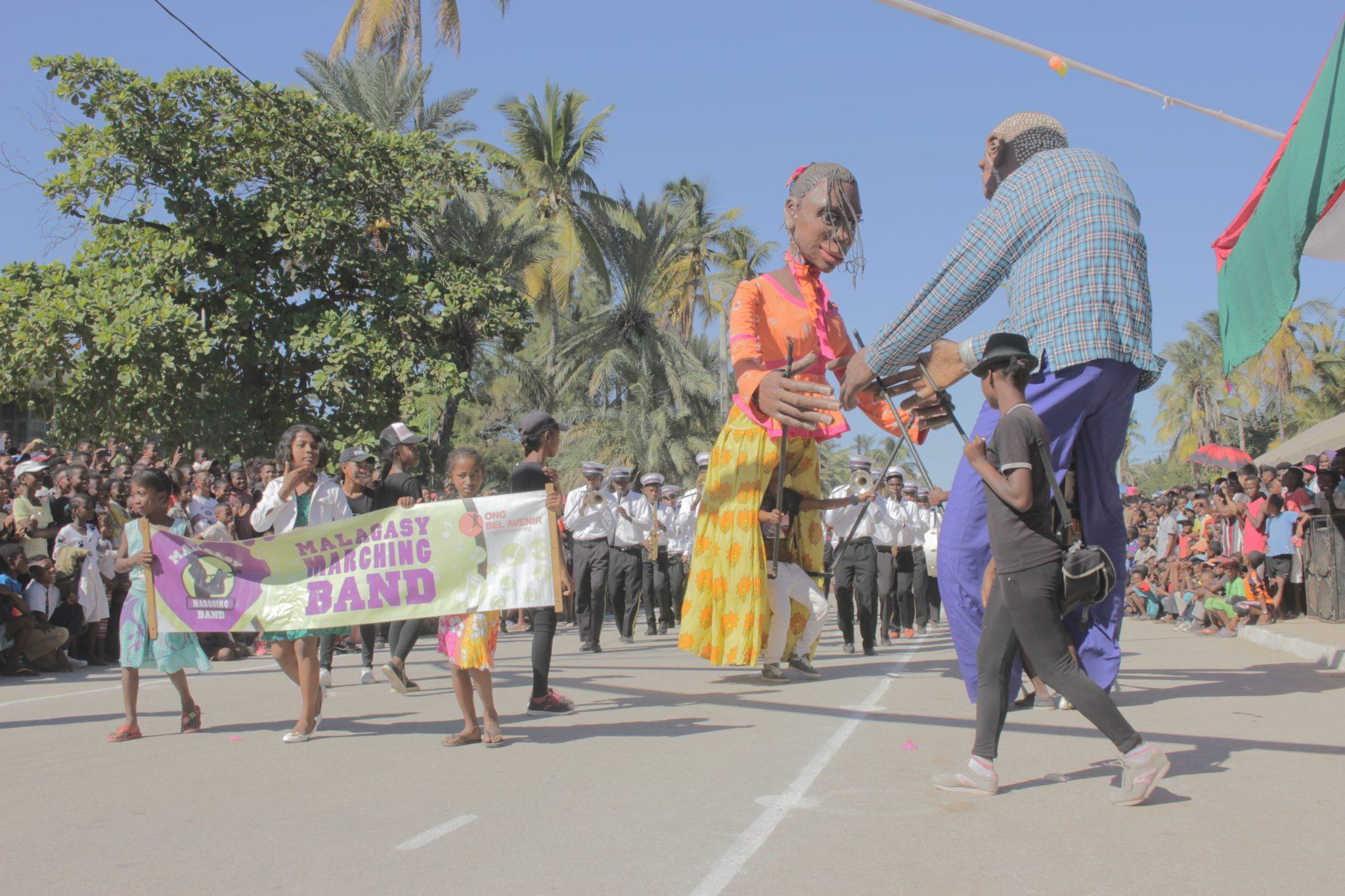 Les bénéficiaires de l'ONG Bel Avenir anime la fête d'indépendance malgache